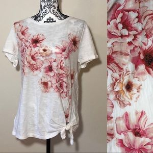 Ruff Hewn Floral Front Tie Shirt